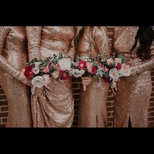 Rosegold Sequin Dress